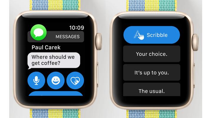 apple watch smart replies imessage