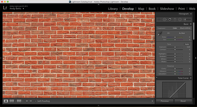 lightroom brick wall test