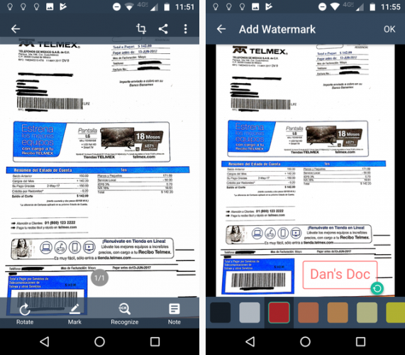 Scan Documents on Your Phone with CamScanner for Android camscanner watermark 571x500