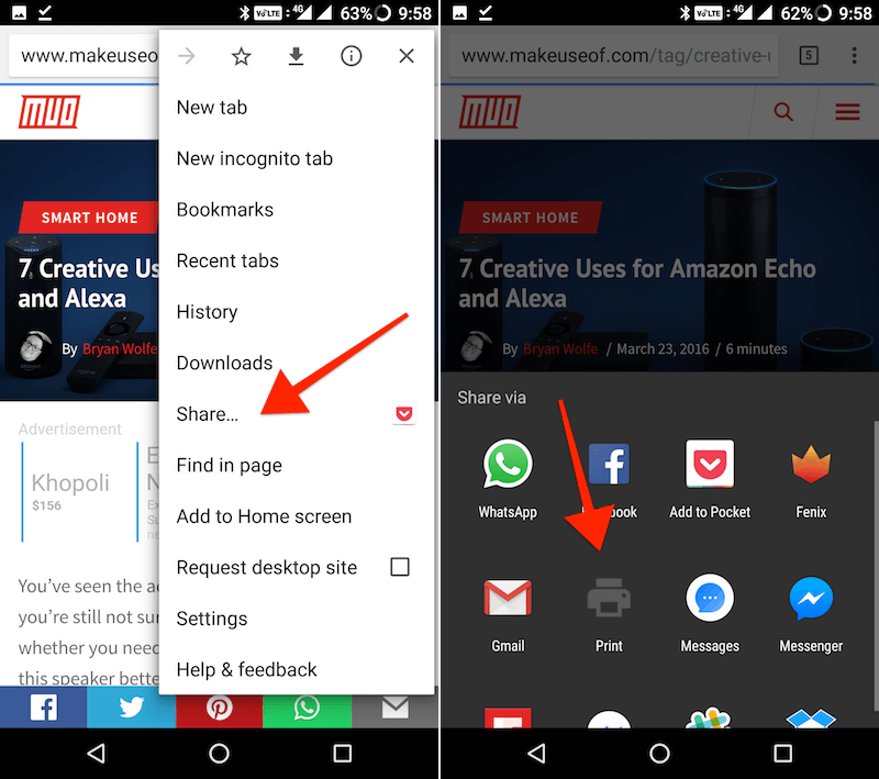 convert web page to PDF in Chrome for Android 3