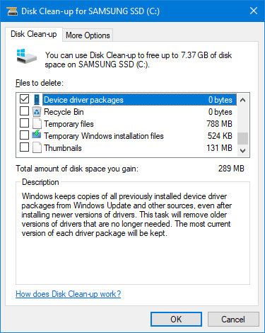 How to Easily Remove Old Drivers From Windows driver disk cleanup