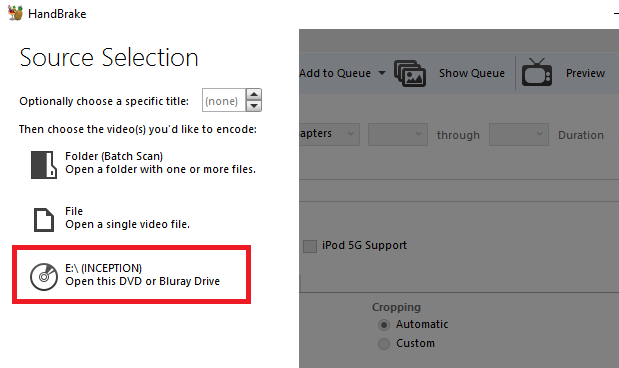 5 Simple Steps to Rip an Entire DVD to Your Hard Drive handbrake source