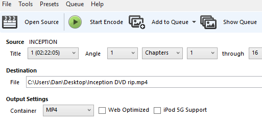 5 Simple Steps to Rip an Entire DVD to Your Hard Drive handbrake start encode