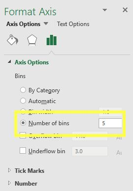 histogram number of bins excel