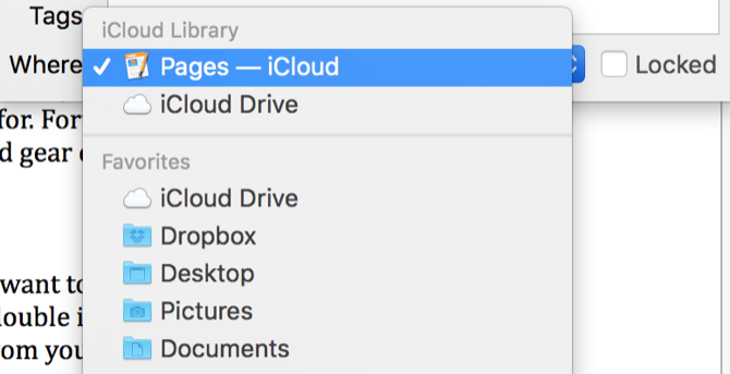 icloud pages folder