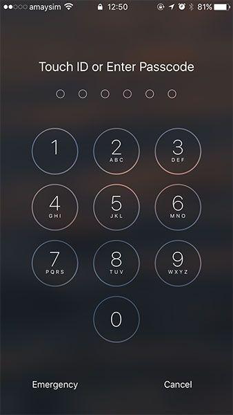ios 10 passcode