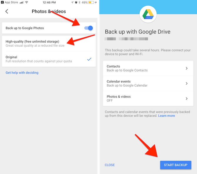 iphone to android Google Drive app 14