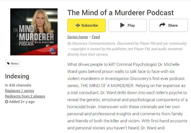 podcast mind of a murderer