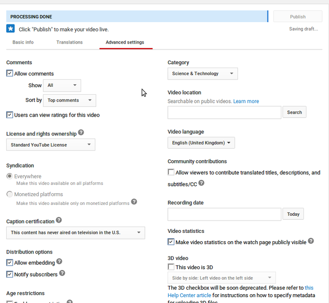 Everything You Need To Know About Uploading Videos To YouTube muo creative youtubeuploadsrw mobile upload settings