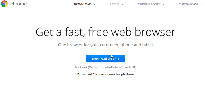 install chrome linux download