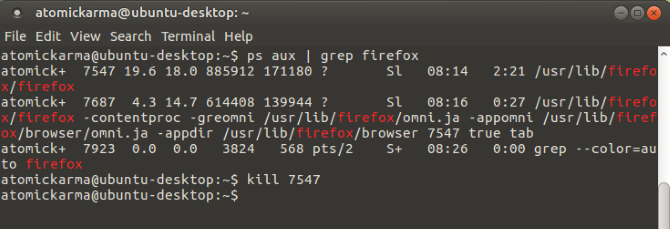 Close Linux apps with the Kill command