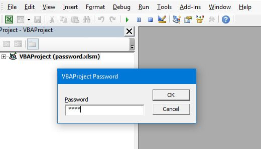excel new password