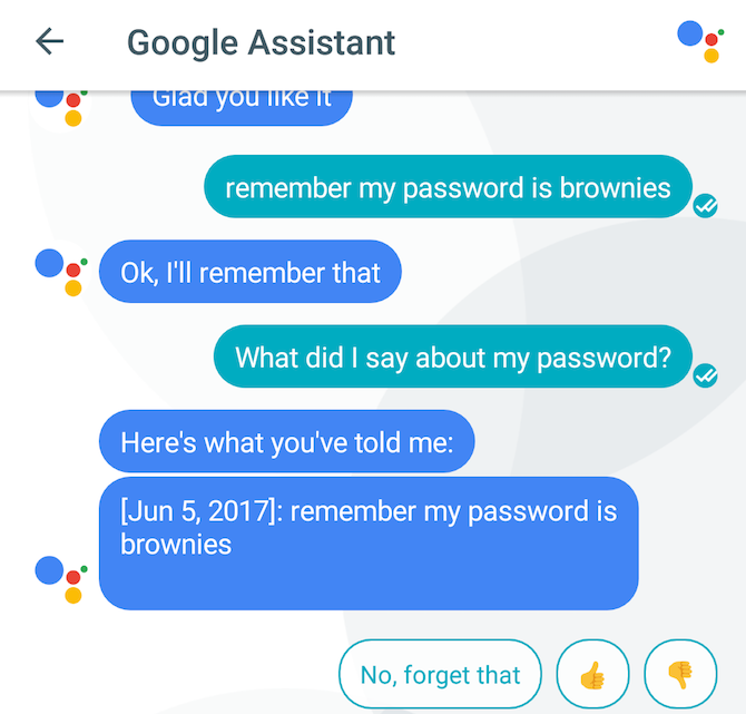 remember apps google assistant