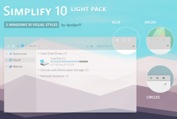 simplify light theme pack