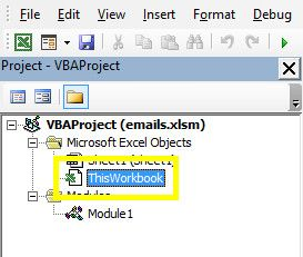 How to Send Emails From an Excel Spreadsheet Using VBA Scripts thisworkbook
