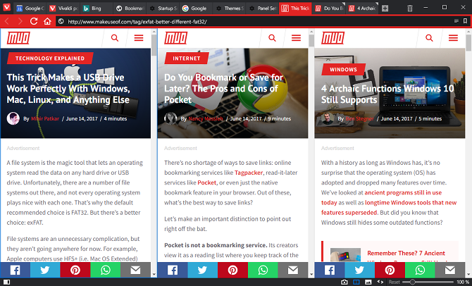9 Reasons to Switch to Vivaldi Browser Today vivaldi browser tab tiling