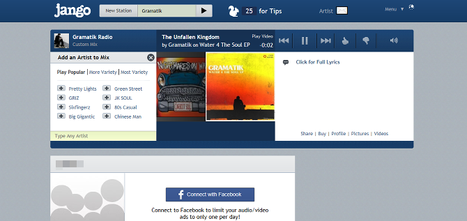 10 Free Pandora Alternatives We Give the Thumbs-Up web player jango