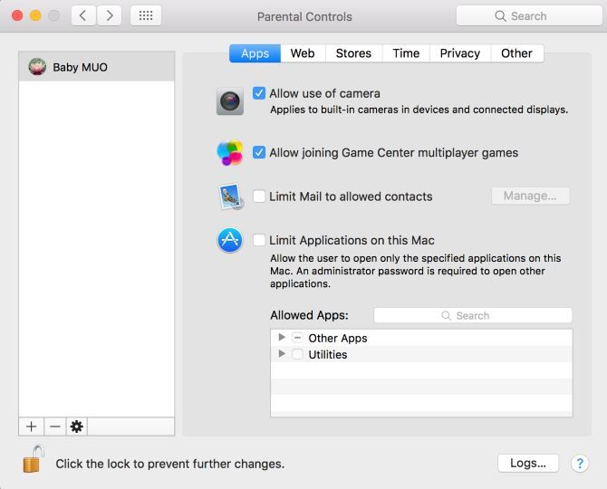 mac parental controls overview