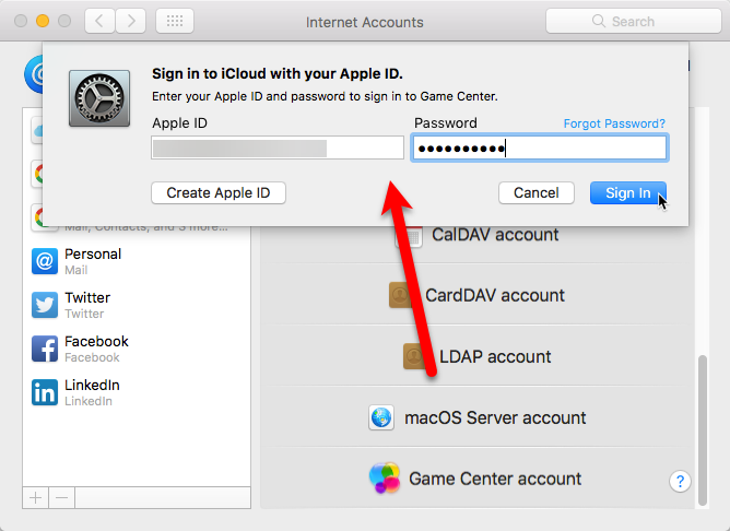 Create game center account
