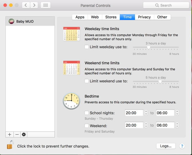 mac time limit parental controls