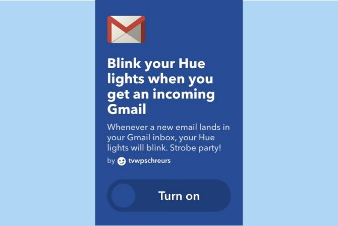 ifttt gmail blink smart lights