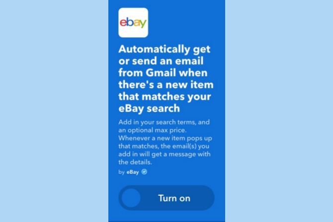 ifttt gmail ebay search match