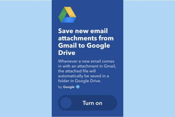 ifttt gmail attachments to google drive
