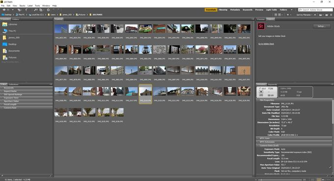 adobe bridge import complete
