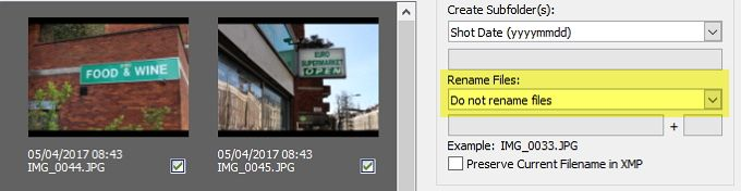 adobe bridge renami files