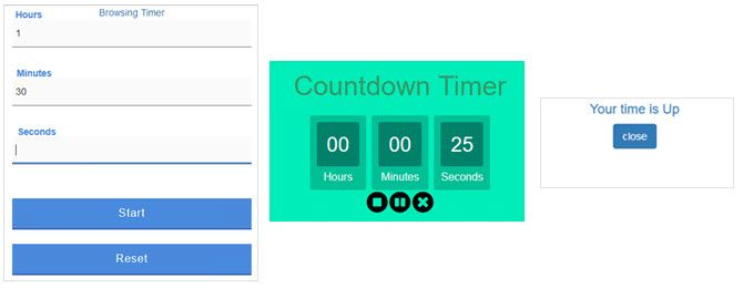browsing timer extension