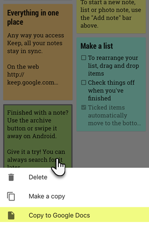 How to Share Google Keep Notes With Other Apps on Your Phone Copy To Google Docs