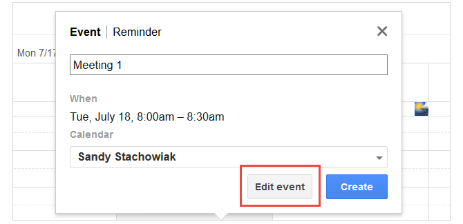 google calendar edit events