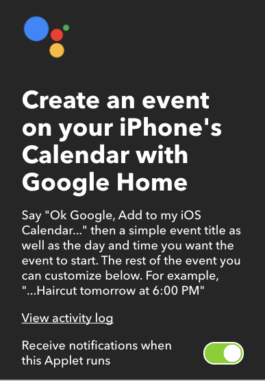 Add Events to Your iOS Calendar Using Google Voice Commands