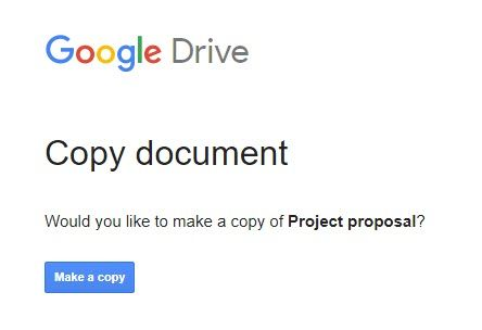 "Use This ""Make a Copy"" Trick When Sharing Google Drive Documents Make A Copy"