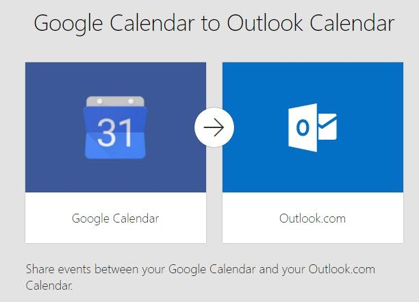 Google Calendar to Outlook Calendar connector