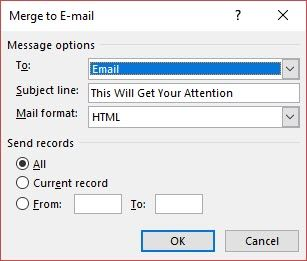 how to send personalized mass emails in outlook with mail merge