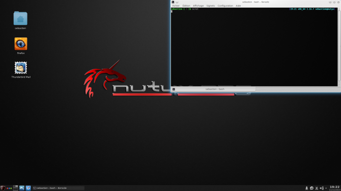 Nutyx with a GUI