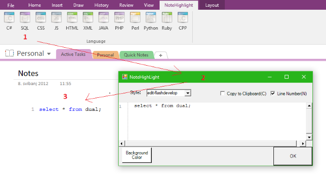 programming notes app onenote