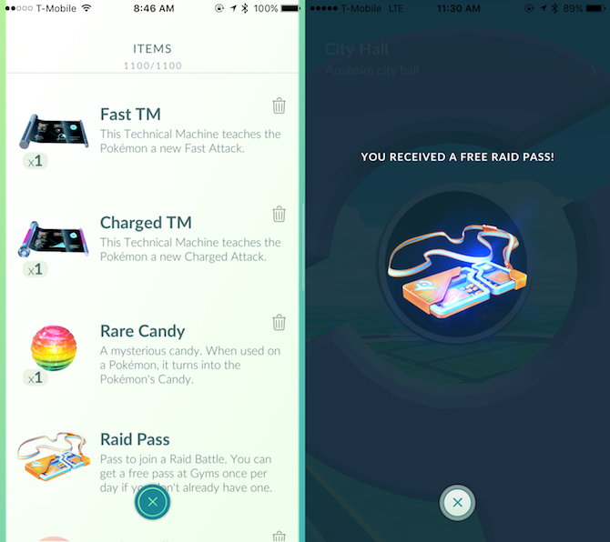 How to get the new special items on pokemon go
