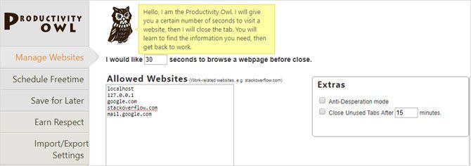 productivity owl chrome