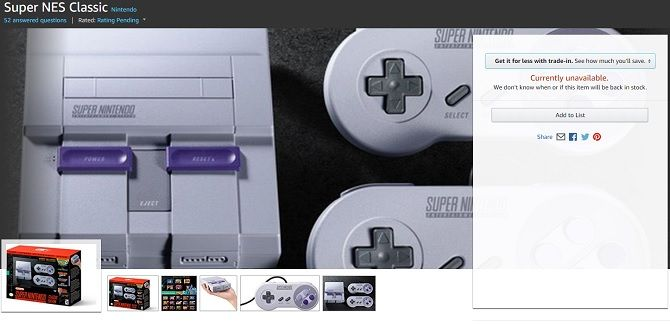 snes mini classic sold out