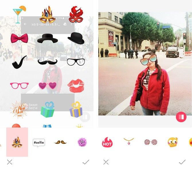 sweet selfie glasses stickers
