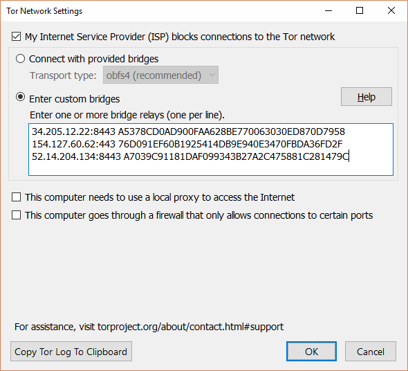 Really Private Browsing: An Unofficial User's Guide to Tor Tor Enter Custom Bridge