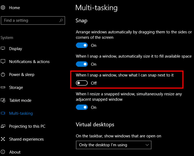 How to Make Window Snapping in Windows 10 Less Annoying With One Tweak Windows 10 Disable Snapping Setting