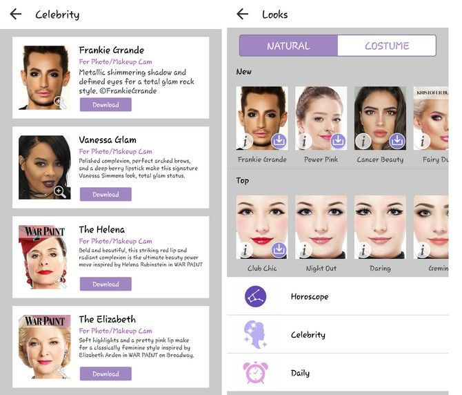 youcam makeup samples