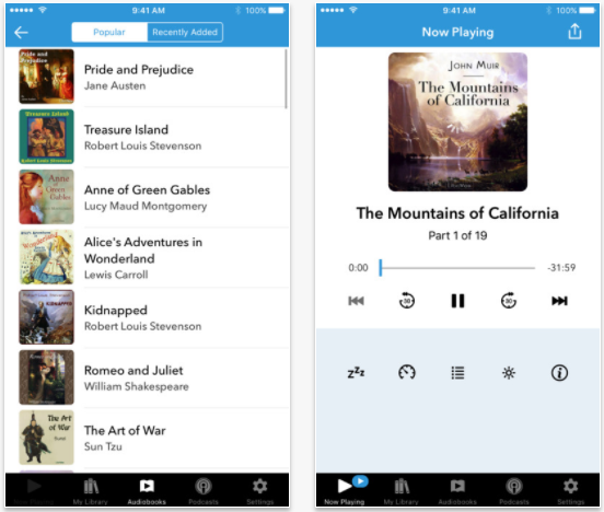 Listen to Over 5,000 Classic Audiobooks for FREE on iPhone, iPad & iPod Touch audiobooks app