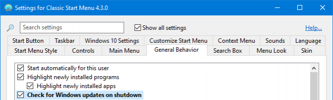 check windows updates on shutdown