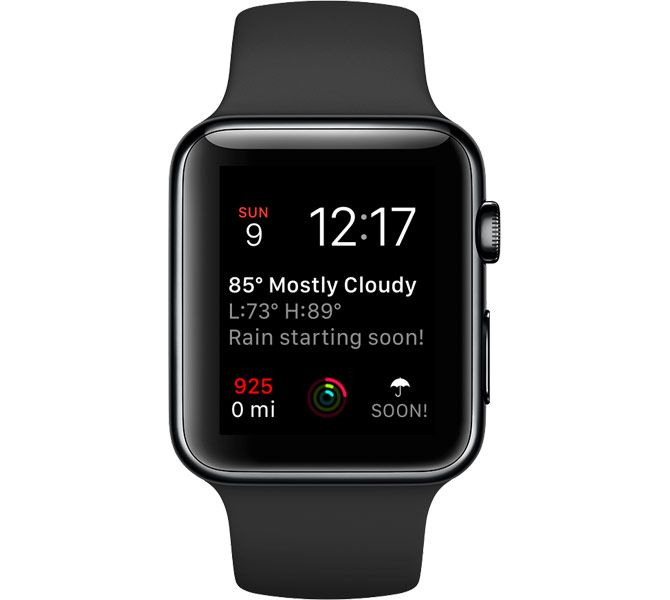 dark sky complication apple watch