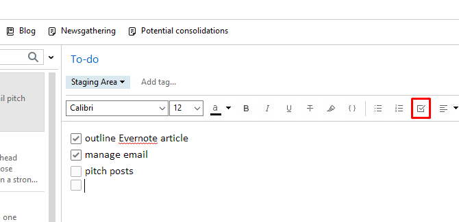 How to Use Evernote: The Unofficial Manual evernote checkbox button