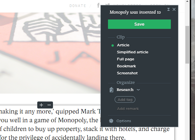 How to Use Evernote: The Unofficial Manual evernote web clipper